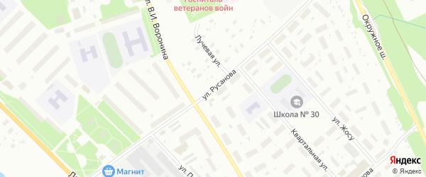 Улица Русанова на карте Архангельска с номерами домов