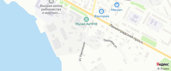 Улица Революции на карте Архангельска с номерами домов