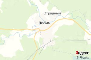 Карта г. Любим Ярославская область
