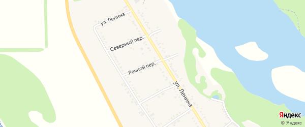 Речной переулок на карте Вольного села с номерами домов