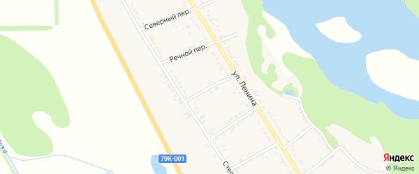 Восточный переулок на карте Вольного села Адыгеи с номерами домов