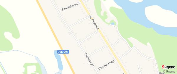 Полевой переулок на карте Вольного села Адыгеи с номерами домов