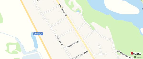 Солнечный переулок на карте Вольного села Адыгеи с номерами домов