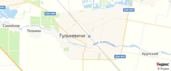 Карта Гулькевичей с районами, улицами и номерами домов