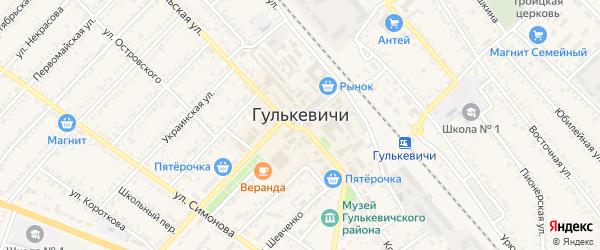 1-я линия на карте Гулькевичей с номерами домов
