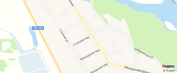 Степной переулок на карте Вольного села Адыгеи с номерами домов