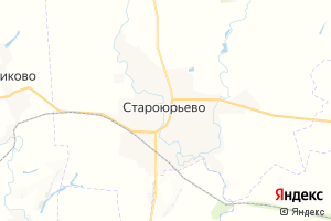 Карта с. Староюрьево Тамбовская область