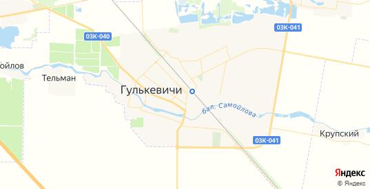 Карта Гулькевичей с улицами и домами подробная. Показать со спутника номера домов онлайн