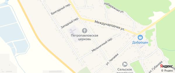 Школьный переулок на карте Вольного села с номерами домов