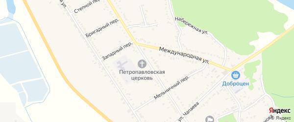 Улица Ленина на карте Вольного села Адыгеи с номерами домов