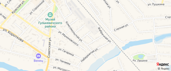 Рабочая улица на карте Гулькевичей с номерами домов