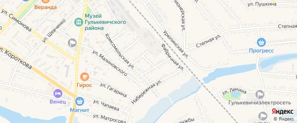 Короткая улица на карте Гулькевичей с номерами домов