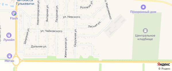 Конечная улица на карте Гулькевичей с номерами домов