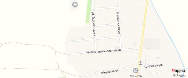 Молодежная улица на карте аула Ходзь Адыгеи с номерами домов