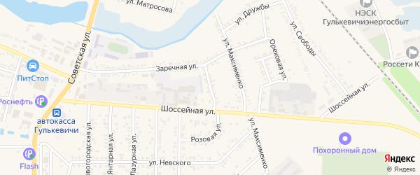 Улица Крылова на карте Гулькевичей с номерами домов
