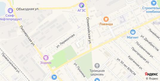 Переулок Содружества в Гулькевичах с номерами домов на карте. Спутник и схема онлайн