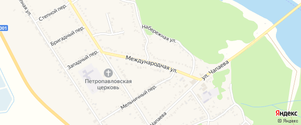 Международная улица на карте Вольного села Адыгеи с номерами домов
