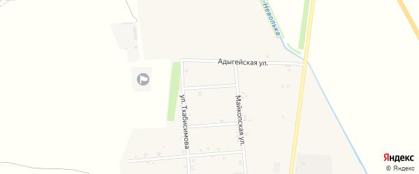 Переулок Свободы на карте аула Ходзь Адыгеи с номерами домов