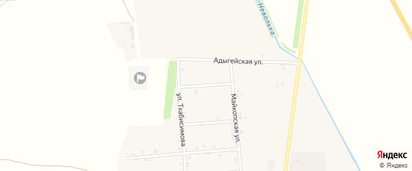 Переулок Свободы на карте аула Ходзь с номерами домов