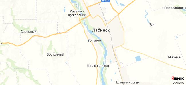 Вольное на карте