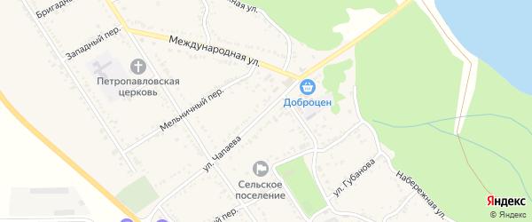 Улица Чапаева на карте Вольного села Адыгеи с номерами домов