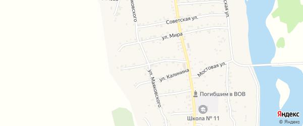 Комсомольская улица на карте аула Ходзь Адыгеи с номерами домов