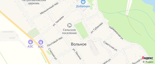 Улица Гагарина на карте Вольного села Адыгеи с номерами домов