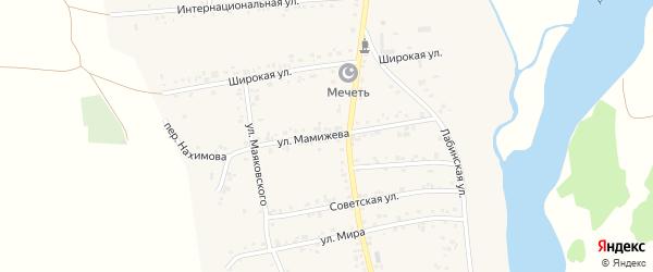 Улица Мамижева на карте аула Ходзь с номерами домов