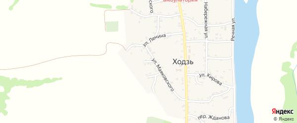 Переулок Некрасова на карте аула Ходзь Адыгеи с номерами домов