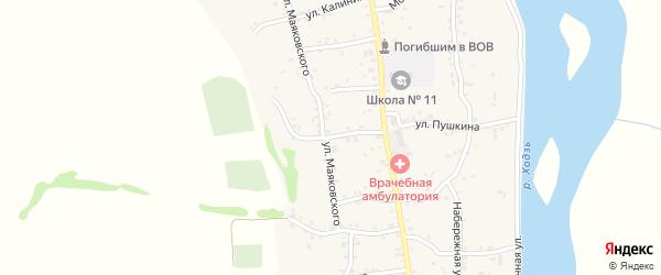 Подгорная улица на карте аула Ходзь Адыгеи с номерами домов