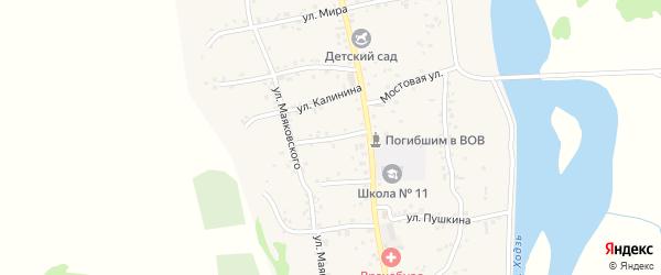Улица Гагарина на карте аула Ходзь Адыгеи с номерами домов