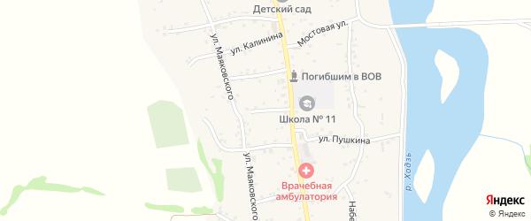 Улица Свердлова на карте аула Ходзь Адыгеи с номерами домов
