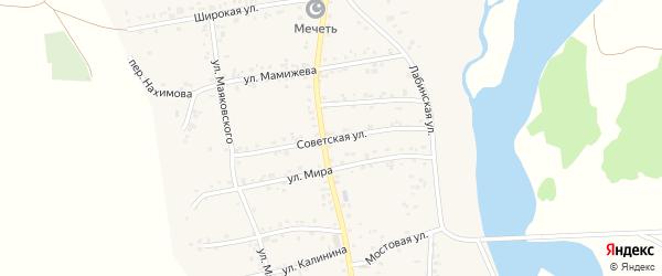 Советская улица на карте аула Ходзь Адыгеи с номерами домов