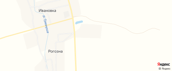 Карта деревни Рогозна в Тамбовской области с улицами и номерами домов