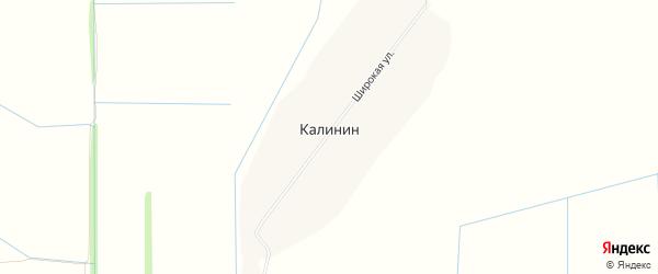 Карта хутора Калинина в Ростовской области с улицами и номерами домов