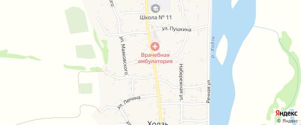 Пионерская улица на карте аула Ходзь Адыгеи с номерами домов