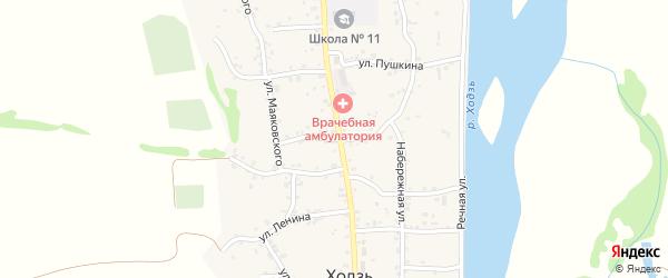 Пионерская улица на карте аула Ходзь с номерами домов