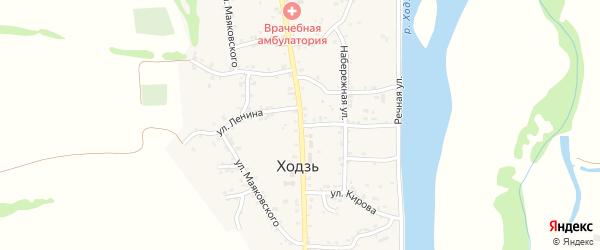 Улица Ленина на карте аула Ходзь Адыгеи с номерами домов