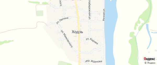 Краснооктябрьская улица на карте аула Ходзь Адыгеи с номерами домов