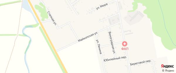 Майкопская улица на карте Вольного села Адыгеи с номерами домов