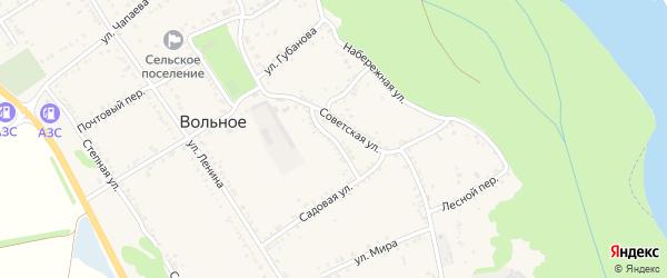 Улица Мичурина на карте Вольного села Адыгеи с номерами домов
