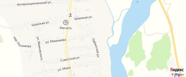 Лабинская улица на карте аула Ходзь Адыгеи с номерами домов