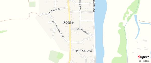 Переулок Чапаева на карте аула Ходзь Адыгеи с номерами домов