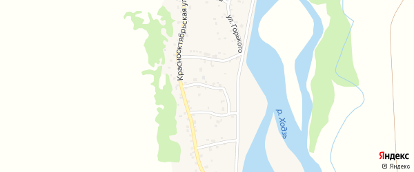 Улица Плеханова на карте аула Ходзь Адыгеи с номерами домов