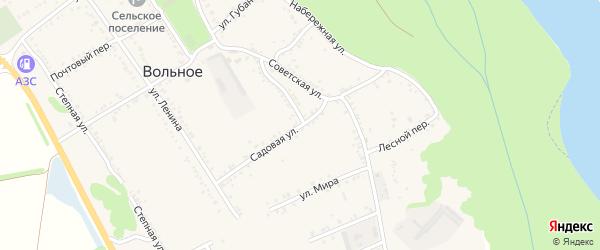 Садовая улица на карте Вольного села Адыгеи с номерами домов