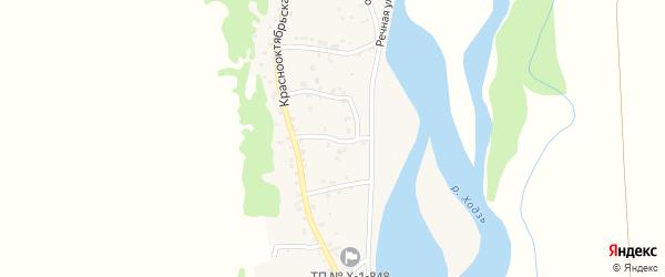 Улица Дзержинского на карте аула Ходзь Адыгеи с номерами домов