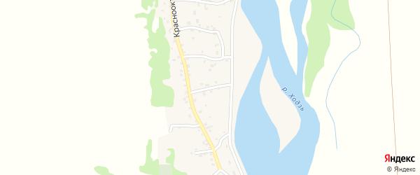 Улица Жуковского на карте аула Ходзь Адыгеи с номерами домов