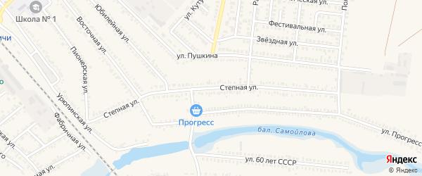 Степная улица на карте Гулькевичей с номерами домов