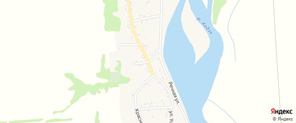 Переулок Кутузова на карте аула Ходзь Адыгеи с номерами домов