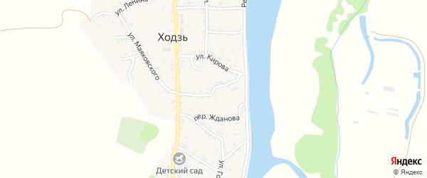 Коммунистическая улица на карте аула Ходзь Адыгеи с номерами домов